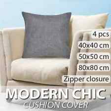 vidaXL 4x Cushion Covers Linen-look Anthracite Pillow Case Protect Multi Sizes