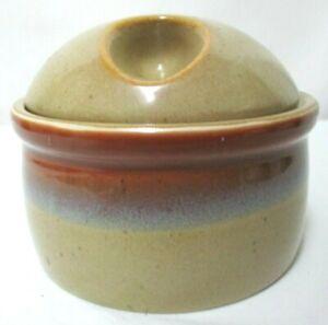 Mikasa Country Cabin Sand & Sea Potters Art Seibel Vintage Stoneware Sugar Bowl