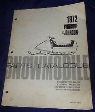 BS726 1972 Evinrude & Johnson Snowmobile Parts Catalog PN 406025