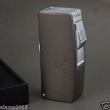 COHIBA CHROME METAL 2 TORCH JET FLAME CIGAR CIGARETTE LIGHTER WITH 3 SIZE PUNCH