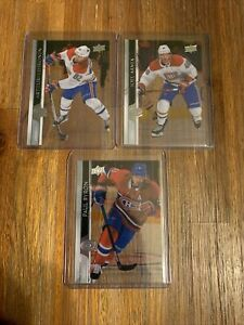 2020/21 UD SERIES 2 CLEAR CUT MONTREAL (3 CARD LOT) 347-348-&351