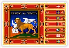 Veneto Flag Sticker Italy Bumper Decal Helmet Motorcycle Laptop Truck Door Car