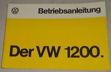 Betriebsanleitung VW Käfer Sparkäfer 1200 Stand 08/1974
