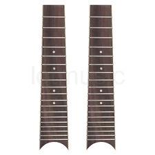Ukulele Fretboard Fingerboard Rosewood for 6 String 28 Inch Ukelele Parts 2 Pcs