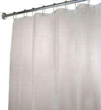 InterDesign Shower Curtain Liner Bathroom Accessory Eva Extra Long Clear Frost
