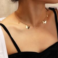 Fashion Butterfly Star Gold Silver Choker Pendant Necklace Clavicle Chain Women