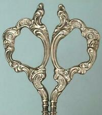 Ornate Antique Sterling Silver Embroidery Scissors by Wendell * Circa 1890s