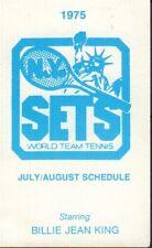 1975 New York Sets Tennis Schedule jhxb