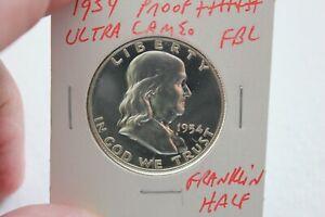 1954   CAMEO    PROOF+++++  FRANKLIN  HALF DOLLAR