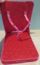 American Girl Doll Travel Seat Chair Luggage Airplane Pink Red Star RETIRED