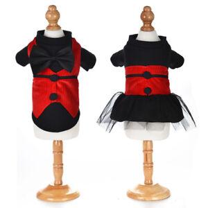 Elegant Pet Dog Evening Dresses Black Bow Dress Wedding Party Puppy Cat Costumes