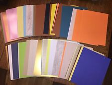 HUGE 300+ Sheets Scrapbook Card stock - Pastels, Metallics, Brights & Earthtones