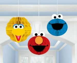 Sesame Street Party Supplies Tissue & Printed Paper Honeycomb Decorations