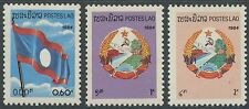 LAOS N°545/547** Armoiries, drapeaux, 1984 Flag/Coat-of-Arms Sc#535-537 MNH