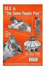 Juego de personas juegan Cartel 01 Letrero De Metal A4 12x8 Aluminio