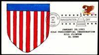 1993 Clinton Gore inaugural - Washington DC, hand-painted shield cachet