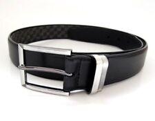 Burton Classic Mens Coated Leather Belt Black