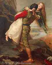 The Crown of Love by John Everett Millais - Romantic Rescue   8x10 Print 1268