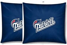 """Pair of New England Patriots Toss Pillow NFL Bedding 15"""" - New - Free Ship"""