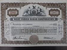 West Indies Sugar Corporation vecchia azione ordinaria 1946 USA
