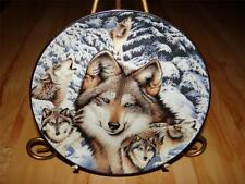 """Eyes Of The Forest"" Window To The Soul Diana Casey Bradford Exchange Wolf Plate"
