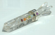 Angel Healing Aura Wand - Each Is Hand Crafted - 7 Chakra 8 Sided Quartz Crystal