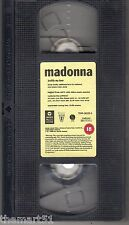 Madonna : Justify My Love + Vogue  (1990) VHS  Video  originale INGLESE -