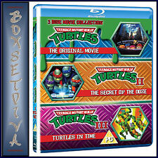 TEENAGE MUTANT NINJA TURTLES - MOVIE COLLECTION - 3 FILMS  **BRAND NEW BLU RAY**