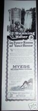 1926 Original MYERS WATER PUMP SYSTEMS Vintage Ad