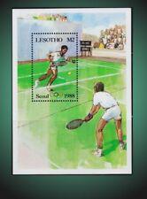 LESOTHO 1987 SUMMER OLYMPIC SEOUL TENNIS SOUVENIR SHEET SCOTT  577