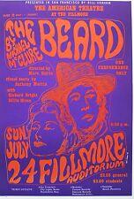 BG 19 VERY RARE FILLMORE POSTER!  The Beard, by Michael McClure. 1966