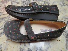 ALEGRIA FEL-951 Black Suede Leather Floral Mary Jane Shoes Women's EU 37 US 7