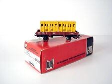 JOUEF WAGON PLAT 2 ESSIEUX AVEC CONTAINERS BAILLY REF. 6450 B - ECHELLE H0 1/87