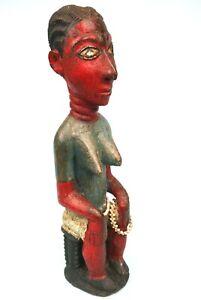 "Art Africain - Ancien Colon Baoulé - Célèbre Série Collection ""Motard"" - 33 Cms"