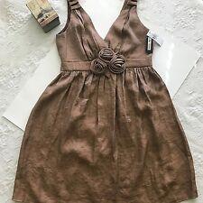 I.N. Studio Women's Size 12 Amber Shimmer Sleeveless Empire Waist Dress-Back Zip