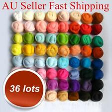 36 Colors Spinning Sewing Trimming Merino Wool Fibre Roving For Needle Felting