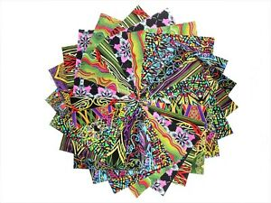 10 10 Inch Kaleidoscope Quilting Fabric Squares /Layer Cake By Benarte