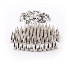 50X Metal Studs Rivet Bullet Spikes Cone Screw Punk Belt Bag Clothes Decor