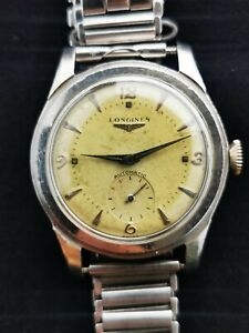 Longines 6250 Stepped Case 35mm Vintage Swiss Made Men's Wristwatch 22A