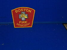 """3.5"""" trapizoid  Fire Department Boston, MA red"""