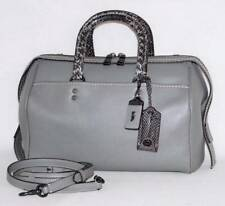 8e11a8c7f251  1200 NWT Coach Rogue 1941 Snakeskin Grey Glove Pebble Leather Satchel Bag  86856