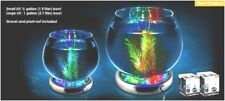Glass BETA Fish Bowl Aquarium & Color Changing LED Light Base Complete Start Kit