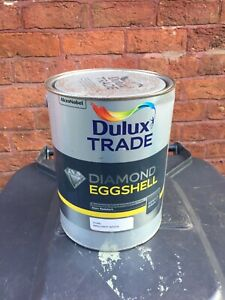 DULUX TRADE DIAMOND EGGSHELL / PURE BRILLIANT WHITE / 5 LITRE / NEW