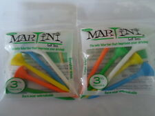 "MarTini Golf Tees Mixed Color- 3 1/4"" -2 Packages of 5 Tees"