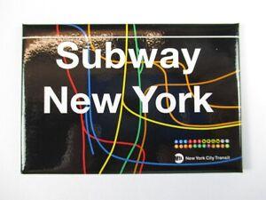 Subway All Stations Metro New York Magnet Souvenir USA America, 8 CM