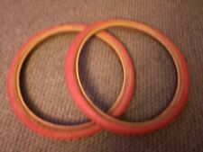 Panaracer freestyle old school bmx tyres red  1980's