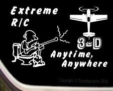 "RC ""3-D"" R/C Airplane Cartoon Decal-Sticker R/C-010"