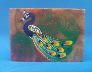 Marble Jewelry Trinket Box Hand Painted Peacock Gifts Home Decor Made in India