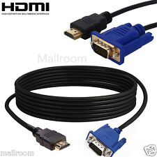 HDMI TO VGA Adapter Cabel Converter 1,8m Audio for Video HD Beamer TV Monitor