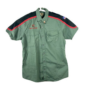 Trail Life USA Troop Uniform Shirt Mens XL Green Hiking USA Flag Short Sleeve